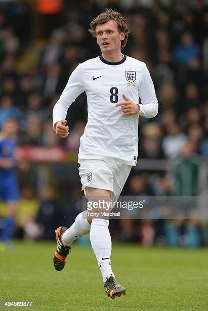 John Swift of England U19 during the Uefa U19 Championship Elite Round match between England U19 and Ukraine U19 at Pirelli Stadium on May 29 2014 in...