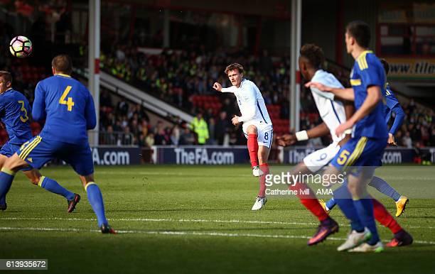John Swift of England U21 scores a goal to make it 10 during the UEFA European U21 Championship Group 9 qualifying match between England and Bosnia...