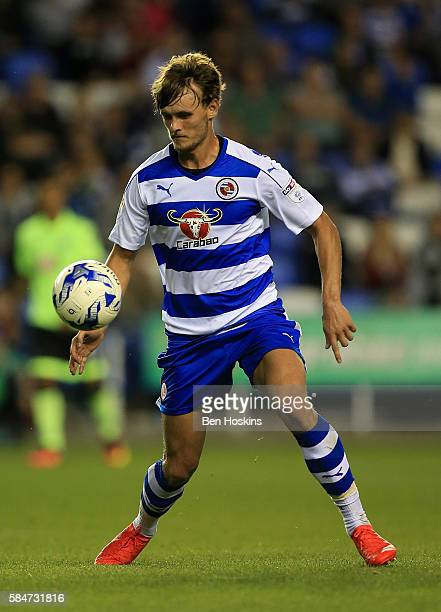 John Swift of Reading in action during the pre season friendly match between Reading and AFC Bournemouth at Madejski Stadium on July 29 2016 in...