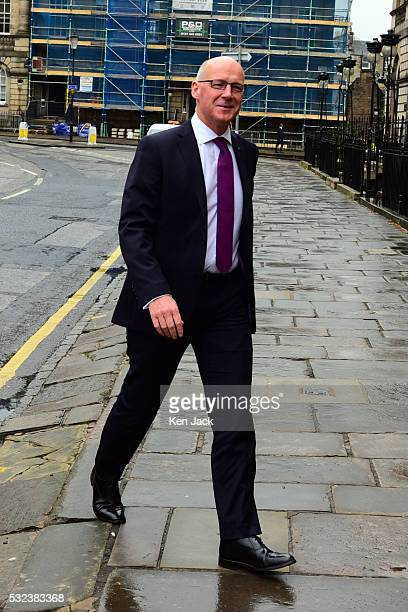 John Swinney arrives at Bute House in the course of the Cabinet reshuffle by First Minister Nicola Sturgeon which confirmed him as Deputy First...