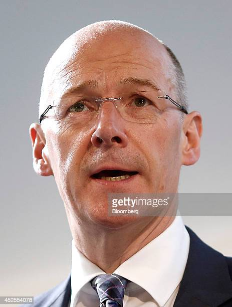 John Swinney Scotland's finance secretary speaks during the Commonwealth Games Business Conference in Glasgow UK on Wednesday July 23 2014 With less...