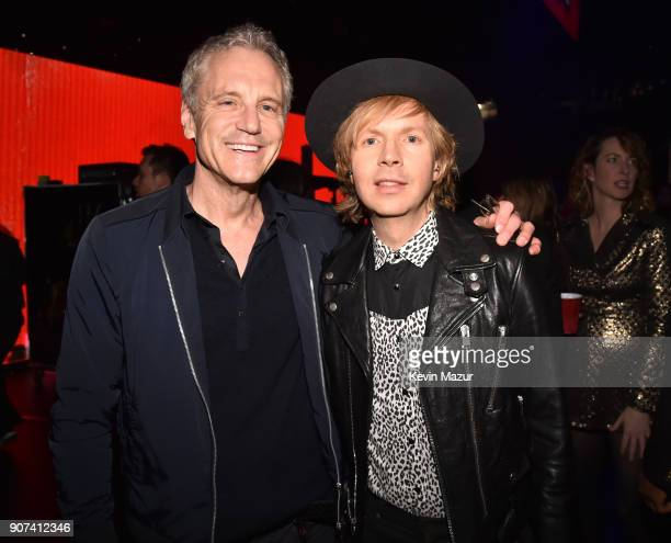 John Sykes and Beck attend iHeartRadio ALTer Ego 2018 at The Forum on January 19 2018 in Inglewood United States