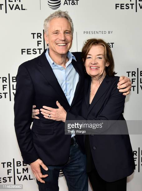 John Sykes and Judy McGrath attend Tribeca TV I Want My MTV 2019 Tribeca Film Festival at SVA Theater on May 01 2019 in New York City