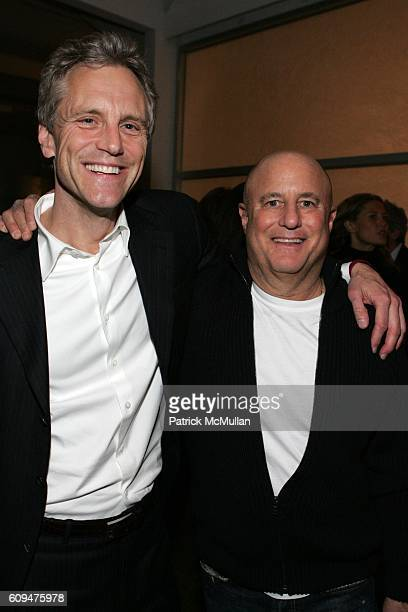 John Sykes and Ron Perelman attend Jon Bon Jovi and Kenneth Cole Team Up For An Unforgettable Night of Fundraising At 'RSVP To Help' at Tribeca...