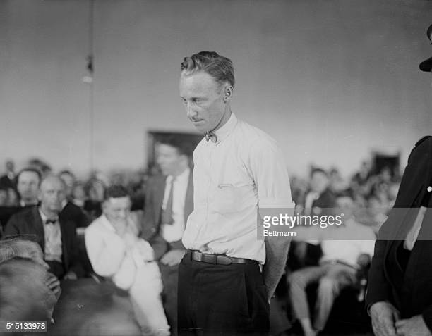 John T Scopes as he stood before the judges stand and was sentenced