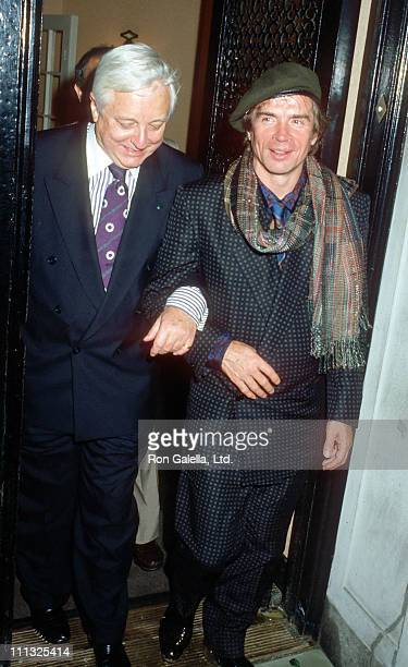 John Taras and Rudolf Nureyev during Dinner Reception for the Wedding of Lee Radziwill and Herb Ross at Jackie Kennedy Onassis' 5th Avenue Apartment...