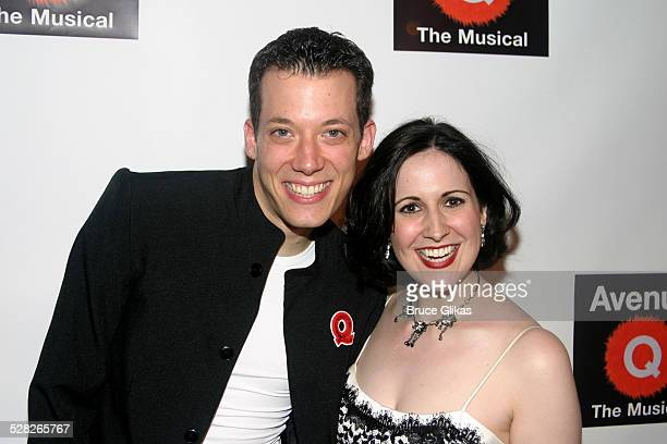 John Tartaglia and Stephanie D'Abruzzo during Opening Night of Avenue Q on Broadway and After Party at John Golden Theatre and Splashlight Studios in...