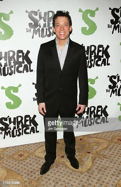 """John Tartaglia attends the opening night party for """"Shrek The Musical"""" on Broadway at the Plaza hotel on December 14, 2008 in New York City."""