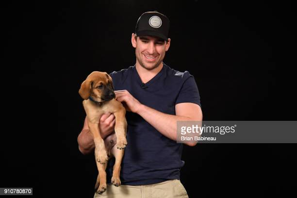 John Tavares of the New York Islanders attends the Players Puppies event at the Grand Hyatt Hotel on January 26 2018 in Tampa Florida