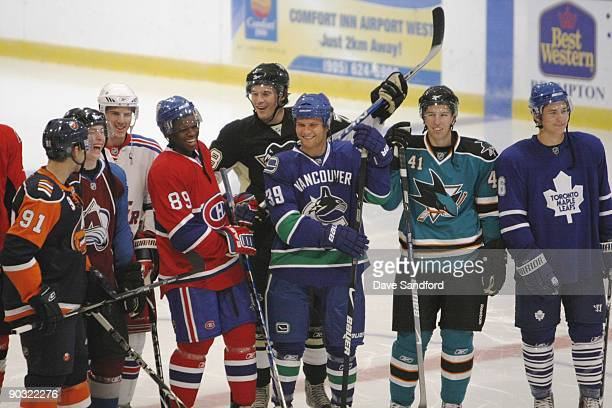 John Tavares of the New York Islanders Matt Duchene of the Colorado Avalanche Bobby Sanguinetti of the New York Rangers PK Subban of the Montreal...