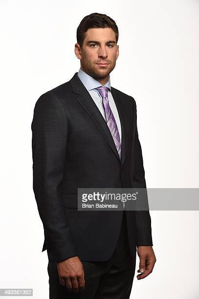 John Tavares of the New York Islanders poses for a portrait at the NHL Player Media Tour at the Ritz Carlton on September 8 2015 in Toronto Ontario