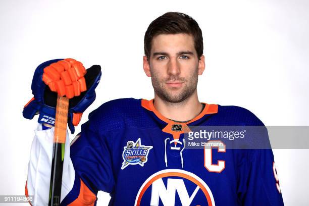John Tavares of the New York Islanders poses for a portrait during the 2018 NHL AllStar at Amalie Arena on January 27 2018 in Tampa Florida