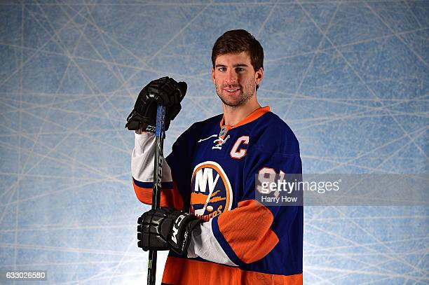 John Tavares of the New York Islanders poses for a portrait prior to the 2017 Honda NHL AllStar Game at Staples Center on January 29 2017 in Los...
