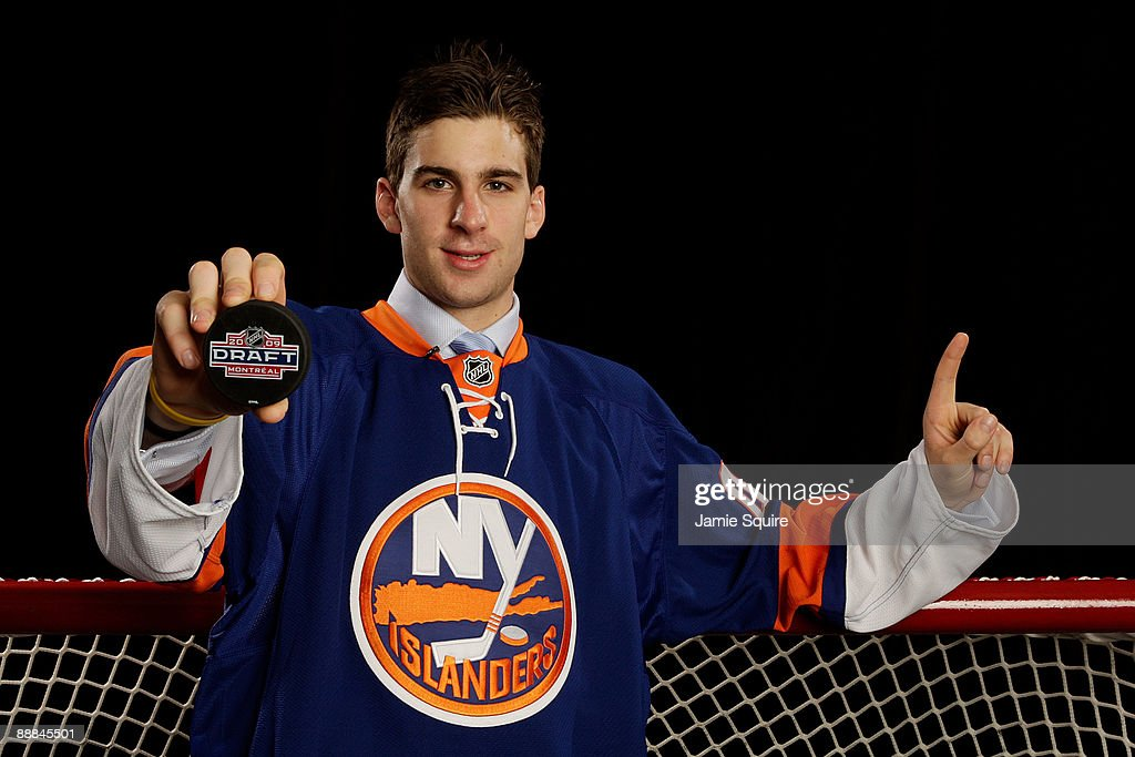 John Tavares poses for a portrait after being picked number one overall in the 2009 NHL Entry Draft by the New York Islander at the Bell Centre on June 26, 2009 in Montreal, Quebec, Canada.