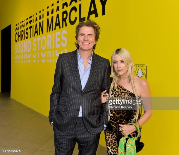 John Taylor and Gela Nash at the US premiere of Christian Marclay Sound Stories an immersive audiovisual exhibition fusing art and technology...