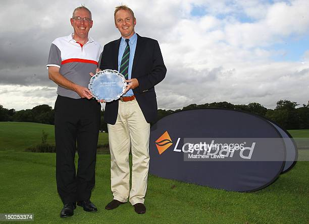 John Taylor and Neil Rowlands of Broadstone Golf Club pictured after winning the Lombard Challenge Regional Qualifier at Woodbury Park Golf Club on...