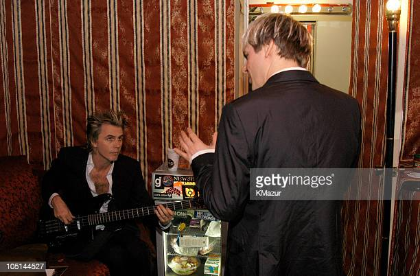 John Taylor and Nick backstage at The Roxy at the Duran Duran show presented by DKNY Jeans and The Fader Rhodes