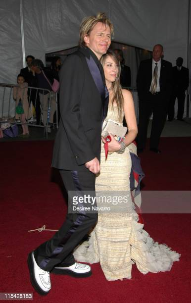 John Taylor and wife Gela Nash of Juicy Couture during 'AngloMania' Costume Institute Gala at The Metropolitan Museum of Art Departures Celebrating...