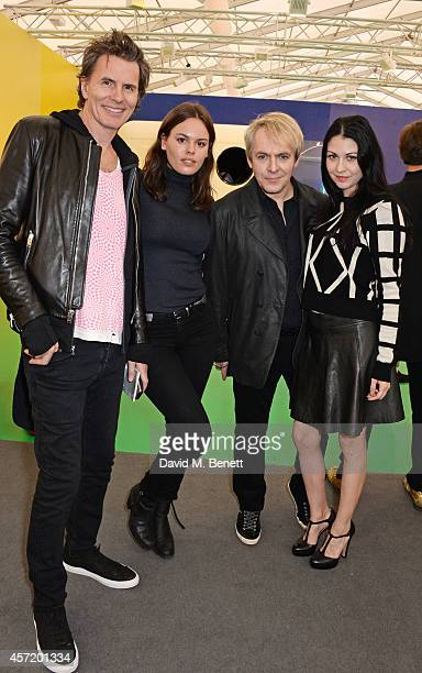 John Taylor Atlanta de Cadenet Nick Rhodes and Nefer Suvio attend VIP Preview of the Frieze Art Fair 2014 in Regent's Park on October 14 2014 in...