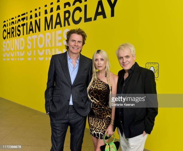 John Taylor Gela Nash and Nick Rhodes at the US premiere of Christian Marclay Sound Stories an immersive audiovisual exhibition fusing art and...