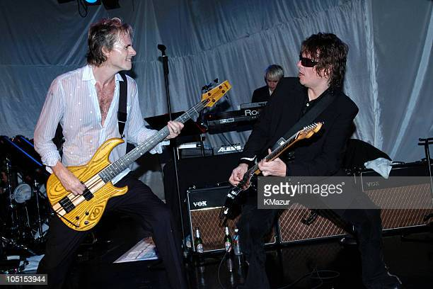 John Taylor Nick Rhodes and Andy Taylor perform at The Roxy at the Duran Duran show presented by DKNY Jeans and The Fader