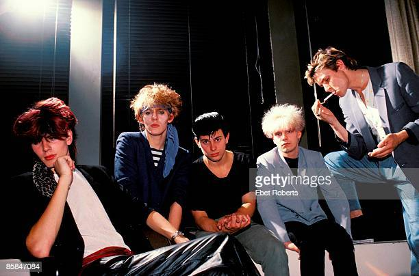 UNITED STATES SEPTEMBER 01 DURAN DURAN LR John Taylor Nick Rhodes Roger Taylor Andy Taylor Simon LeBon posed group shot studio