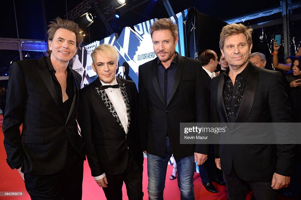 John Taylor, Nick Rhodes, Simon Le Bon, Roger Taylor of Duran Duran attend the MTV EMA's 2015 at Mediolanum Forum on October 25, 2015 in Milan, Italy.