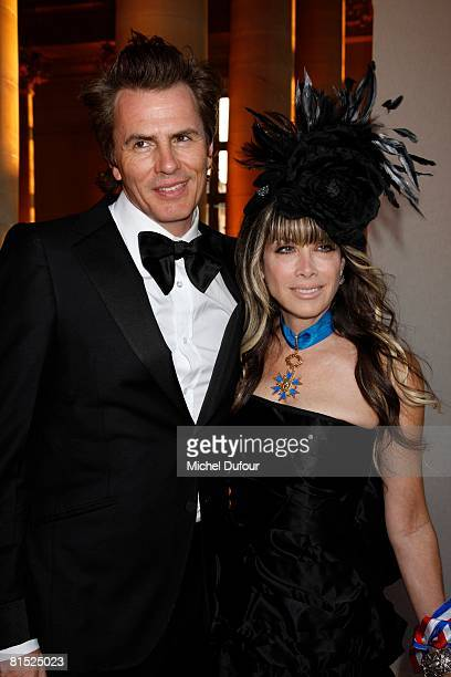 John Taylor of Duran Duran and Gela Nash attend a party hosted by Becca Cason Thrash to honour The American Friends of The Louvre on June 10 2008 in...