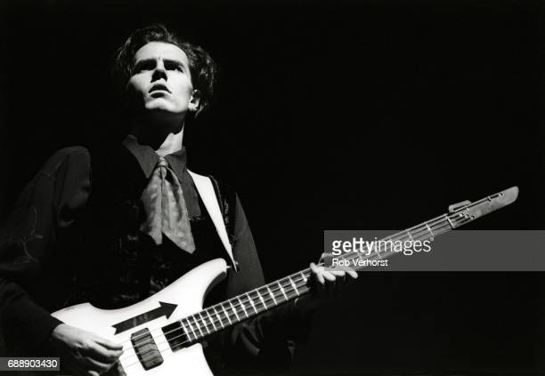 John Taylor of Duran Duran performs on stage Ahoy Rotterdam Netherlands 22nd November 1988