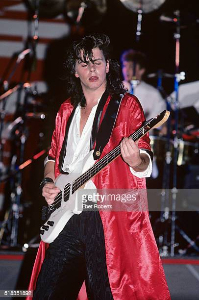 John Taylor performing with Power Station at the Jones Beach Theater in Wantagh Long Island New York on July 22 1985