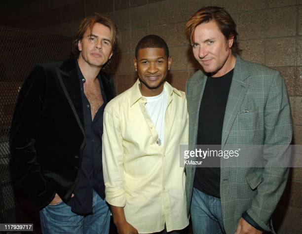 John Taylor Usher and Simon Le Bon of Duran Duran during The Andre Agassi Charitable Foundation's 10th Annual 'Grand Slam for Children' Fundraiser...