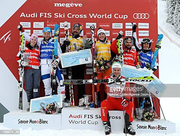 John Teller of the USA Jouni Pellinen of Finland Armin Niederer of Switzerland Anna Woerner of Germany Kelsey Serwa of Canada Ophelie David of France...