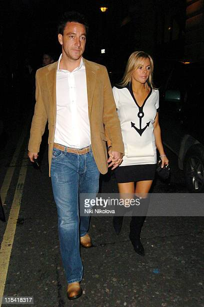 John Terry and Toni Poole during Chelsea Footballer Andrei Shevchenko's 30th Birthday Party at Cocoon in London Great Britain