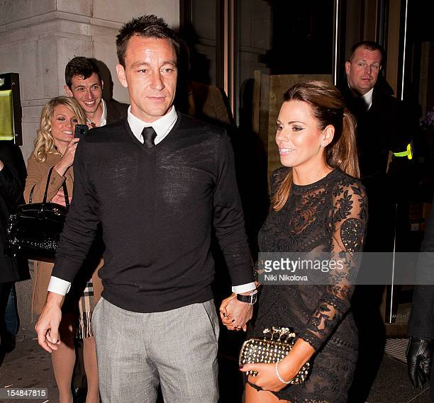 John Terry and Toni Poole sighting on October 27 2012 in London England