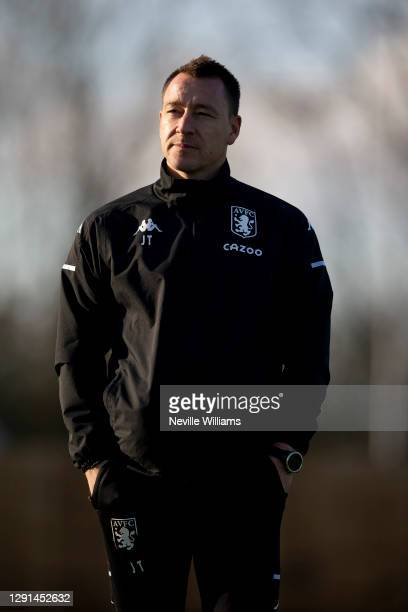 John Terry assistant coach of Aston Villa in action during a training session at Bodymoor Heath training ground on December 15, 2020 in Birmingham,...