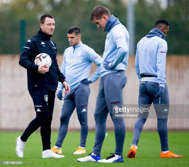 John Terry assistant coach of Aston Villa in action during training session at Bodymoor Heath training ground on October 21, 2020 in Birmingham,...