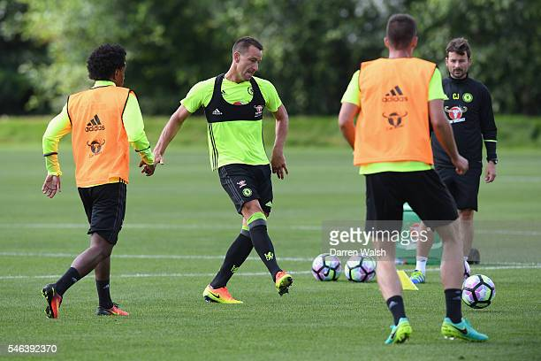 John Terry during a Chelsea training session at Chelsea Training Ground on July 12 2016 in Cobham England