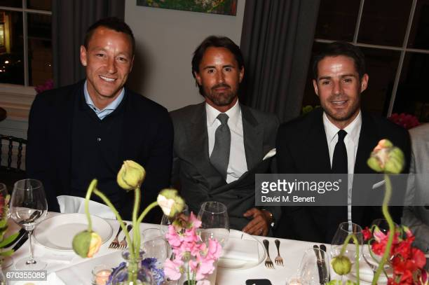 John Terry Jay Rutland and Jamie Redknapp attend a VIP dinner celebrating the private view of The Maddox Gallery's Bradley Theodore exhibition at The...