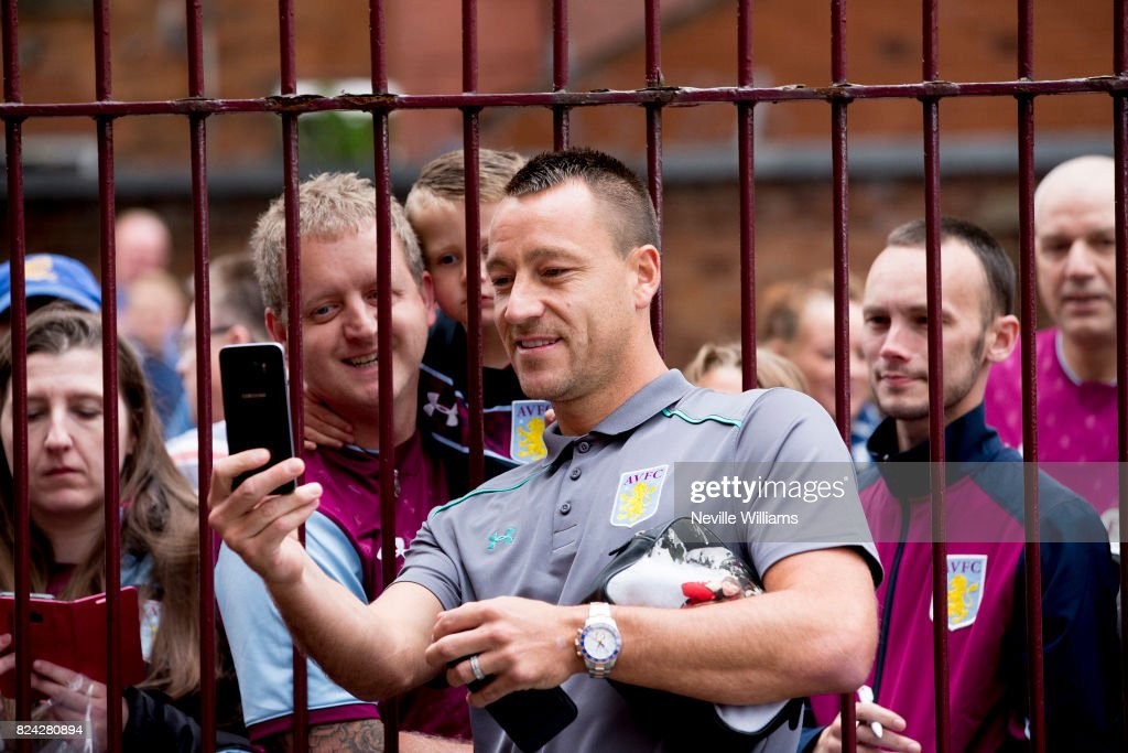 John Terry of Aston Villa before the pre season match between Aston Villa and Watford at Villa Park on July 29 , 2017 in Birmingham, England.