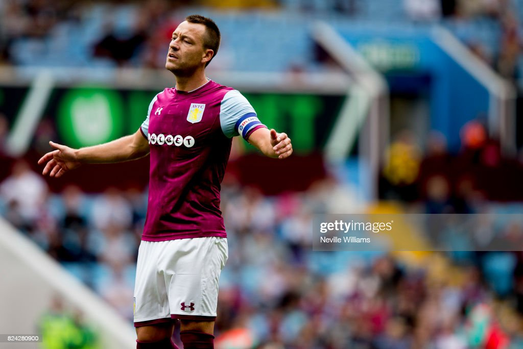 John Terry of Aston Villa during pre season match between Aston Villa and Watford at Villa Park on July 29 , 2017 in Birmingham, England.