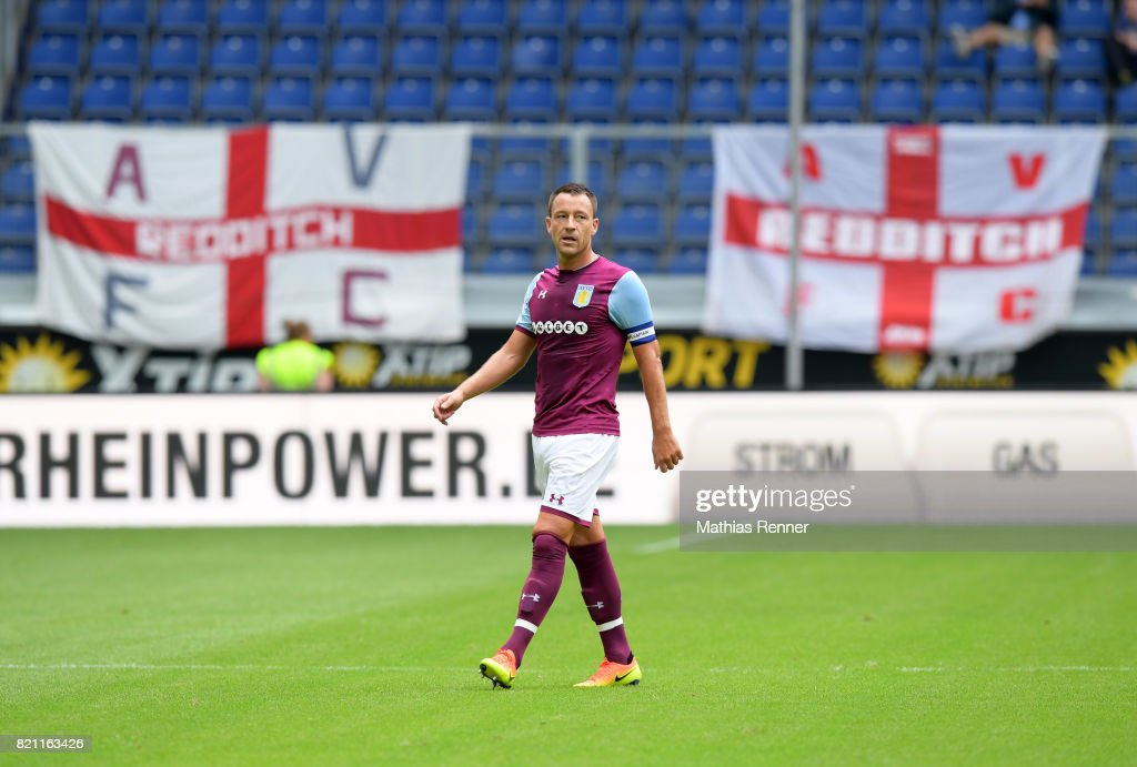 John Terry of Aston Villa during the game between Aston Villa and the MSV Duisburg on July 23, 2017 in Duisburg, Germany.