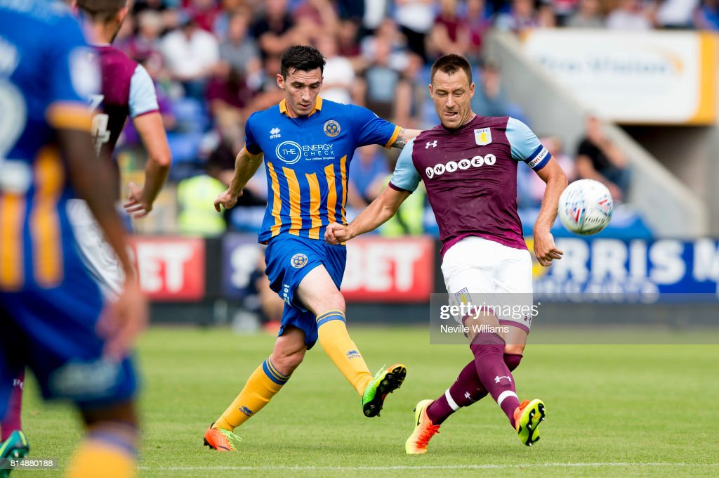 John Terry of Aston Villa during the Pre-Season Friendly match between Shrewsbury Town and Aston Villa at the Greenhous Meadow on July 15, 2017 in Shrewsbury, England.