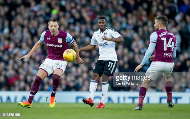 John Terry of Aston Villa during the Sky Bet Championship match between Fulham and Aston Villa at Craven Cottage on February 17 2018 in London England