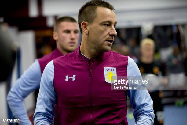 John Terry of Aston Villa during the Sky Bet Championship match between Aston Villa and Hull City at Villa Park on August 05 2017 in Birmingham...