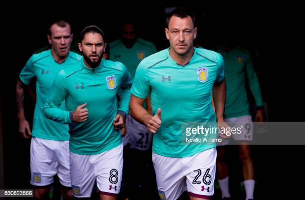 John Terry of Aston Villa during the Sky Bet Championship match between Cardiff City and Aston Villa at the Cardiff City Stadium on August 12 2017 in...