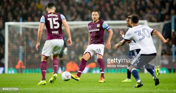 John Terry of Aston Villa during the Sky Bet Championship match between Aston Villa and Middlesbrough at Villa Park on September 12 2017 in...