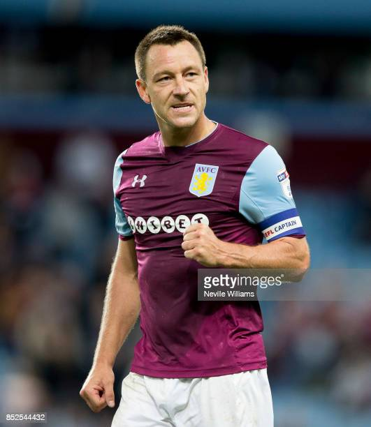 John Terry of Aston Villa during the Sky Bet Championship match between Aston Villa and Nottingham Forest at Villa Park on September 23 2017 in...
