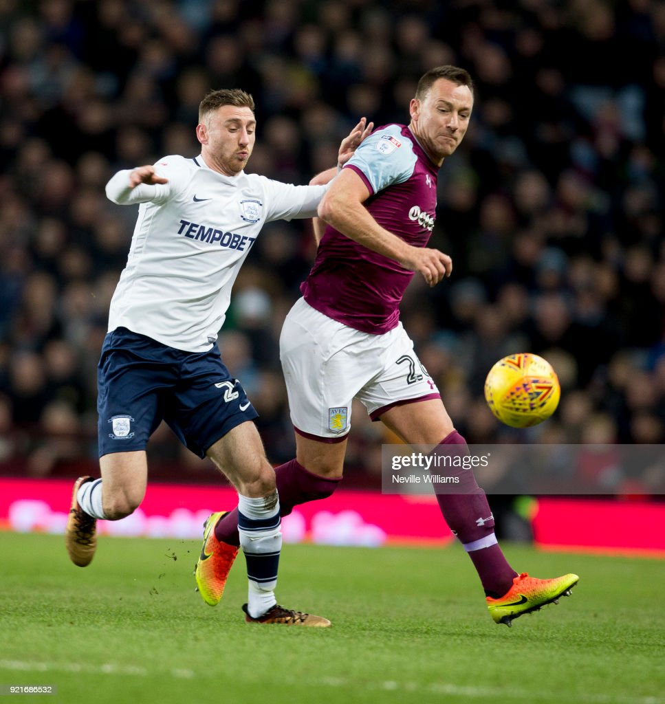 John Terry of Aston Villa during the Sky Bet Championship match between Aston Villa and Preston North End at Villa Park on February 20, 2018 in Birmingham, England.