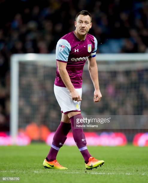 John Terry of Aston Villa during the Sky Bet Championship match between Aston Villa and Preston North End at Villa Park on February 20 2018 in...