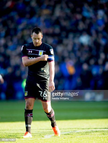 John Terry of Aston Villa during the Sky Bet Championship match between Sheffield Wednesday and Aston Villa at Hillsborough on February 24 2018 in...